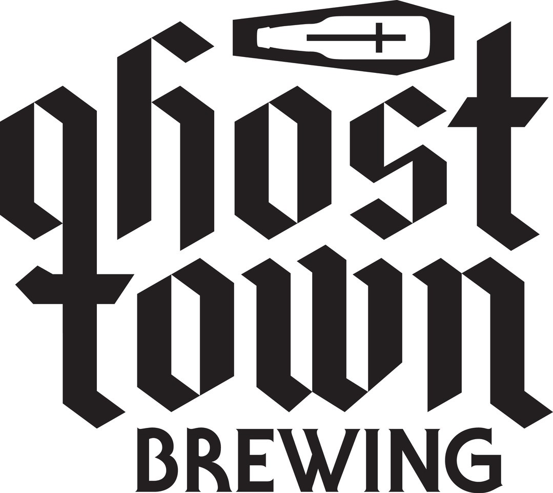 logo for ghost town brewing