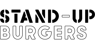 logo for stand-up burgers