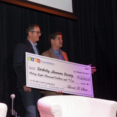 Berkeley Humane Board member Dan Lang and EACH Foundation founder Lionel Shaw
